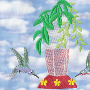 machine embroidery designs hummingbird feeder