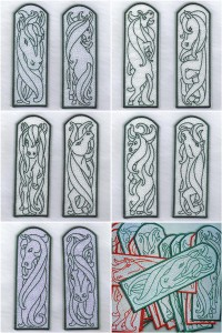 Horse bookmarks machine embroidery designs