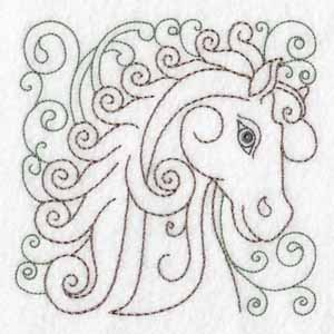 Horse Squares machine embroidery designs
