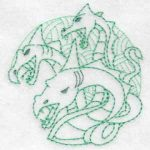 machine embroidery designs legendary creatures