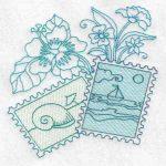 machine embroidery design fish sail