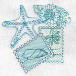 machine embroidery design fish star