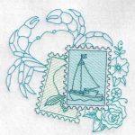 machine embroidery design fish crab
