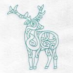 machine embroidery design deer stag