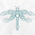 machine embroidery design dragonfly