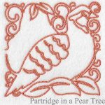 machine embroidery designs partridge