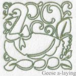 machine embroidery designs geese