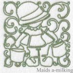 machine embroidery designs maids