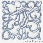 machine embroidery designs dancing