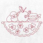 machine embroidery designs apple