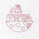 machine embroidery designs acorns