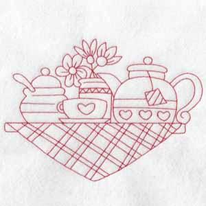 machine embroidery designs tea