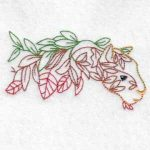 machine embroidery design cougar