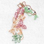 machine embroidery design giraffe