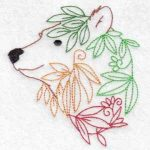 machine embroidery design bear