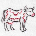 machine embroidery designs cow
