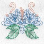 machine embroidery designs butterfly flowers Mylar
