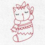 Machine embroidery designs kittens christmas