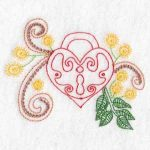 machine embroidery designs heart valentine padlock