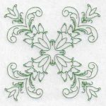 machine embroidery designs tulip quilt