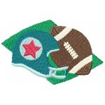 machine embroidery designs football