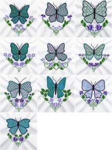 Appliqué Mylar machine embroidery designs