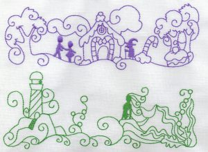 machine embroidery designs fairy tales