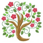 machine embroidery designs flower tree
