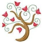 machine embroidery designs flower tree