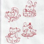 free machine embroidery designs kitty