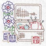 Machine embroidery designs basket