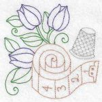 Machine embroidery designs thimble tulip