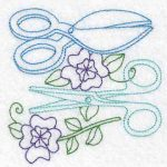 Machine embroidery designs scissors
