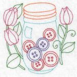 Machine embroidery designs buttons