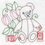 Machine embroidery designs teddy