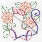 Machine embroidery designs sock darn