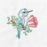 Machine embroidery designs hummingbirds