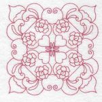 Machine embroidery designs Rose Squares