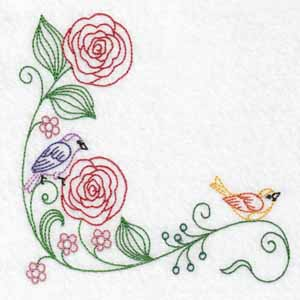 machine embroidery designs birds flowers