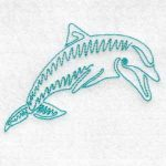 machine embroidery design dolphin