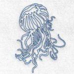 machine embroidery design jellyfish