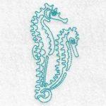 machine embroidery design seahorse