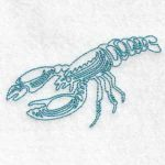 machine embroidery design lobster