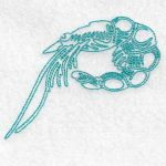 machine embroidery design shrimp