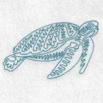 machine embroidery design turtle
