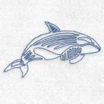 machine embroidery design orca