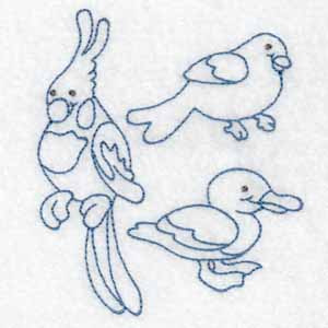Machine Embroidery Design bird