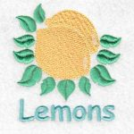 machine embroidery designs lemon