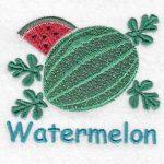 machine embroidery designs watermelon