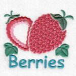 machine embroidery designs berries